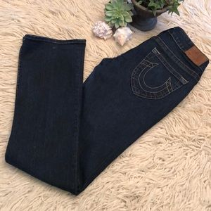 Worn 1x-Wmns-True Religion Jeans-Straight Leg